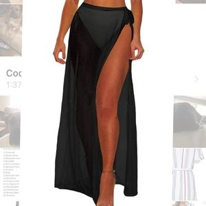 Bathing suit cover up, skirt.